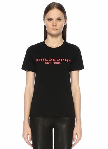 Philosophy Di Lorenzo Serafini Tişört Siyah